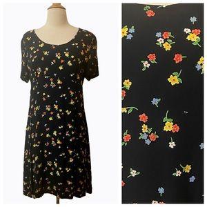 Vintage Laura Ashley Floral Short Dress, Medium